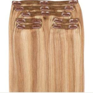 "Beautiful Sunset Blonde 18"" Human Hair Extensions"